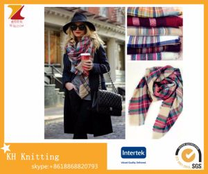 Wholesale Ladies fashion Imitation Cashmere Double-Sided Colorful Plaid Scarves pictures & photos