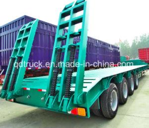 4axles Excavator Transport Gooseneck Lowboy Low Bed Lowbed Semi Trailer pictures & photos