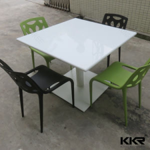 Modern 4 Seaters Solid Surface Dining Table pictures & photos