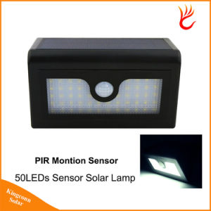 50 LEDs Solar Motion Sensor Light for Garden Wall Mounted pictures & photos