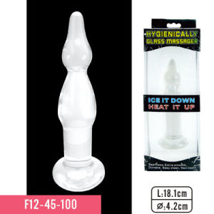 High-Quality Glass Material G-Spot Massager Glass Material Anal Plug Adult Sex Toys pictures & photos