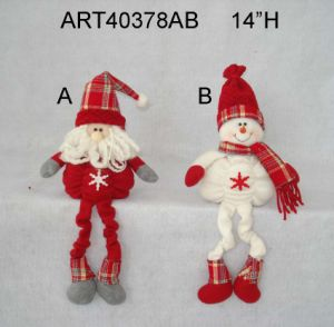 Spring Legged Christmas Decoration Figurine Gift-2asst pictures & photos