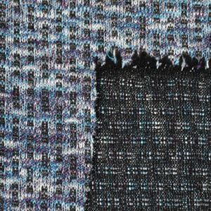 380GSM Rayon Spandex Yarn Dyed Interlock Fabric pictures & photos