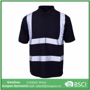 High Quality Balck Reflective Polo Shirts pictures & photos