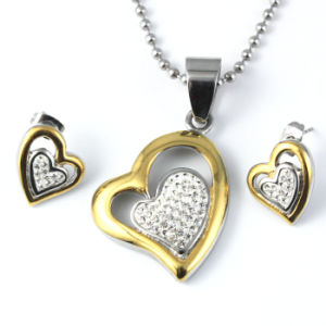 Hot Sale Jewelry Sets Pave Crystal Heart Pendant Is Suitable for Any Occasions pictures & photos