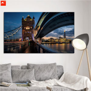 Bridge Wall Art Downtown Night Street Canvas Oil Painting pictures & photos