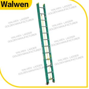 Made in China Lightweight Folding Fiberglass Extension Ladder pictures & photos