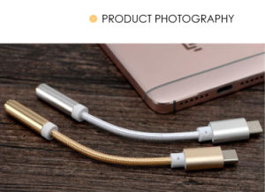 USB Type-C to 3.5mm Headphone Adapter Earphone Audio Aux Cable pictures & photos