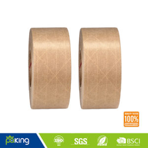Factory Directly Sell Wet Water Kraft Paper Tape for Box Sealing pictures & photos
