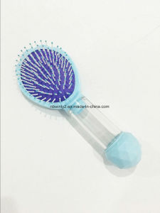 Plastic Hairbrush Separately Head with Handle pictures & photos