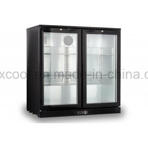 with Ce, CB, RoHS Double Glass Door Bar Cooler Commercial Under Bar Refrigerator pictures & photos