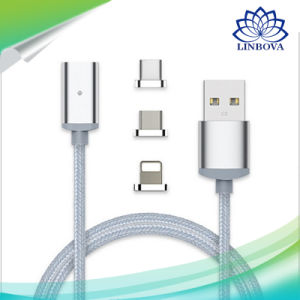3 in 1 USB Drive Metal Magnetic Data Cable with Micro USB & Lighting & Type C for Android iPhone7/6s/6 Samsung Sony Xiaomi pictures & photos