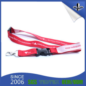 Red Woven Lanyard with Breakaway Buckle pictures & photos