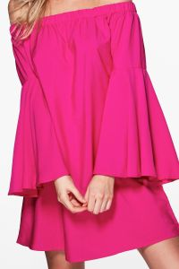 Fery Extreme Flare Sleeve off Shoulder Dress pictures & photos