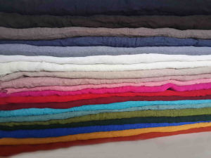 High Twist Spun Polyester Voile Fabric Used for Scarf and Dress with Soft Handfeel pictures & photos