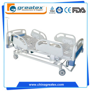 5 Function Hospital Bed Appliances Electric Medical Exam Super King Size Adjustable Beds pictures & photos