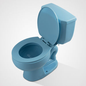 Fashionable Design Ceramic Eddy Flush Colourful Two Piece Toilet pictures & photos
