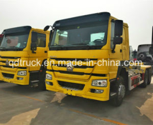 HOWO hooklift garbage truck, hook lift garbage truck pictures & photos