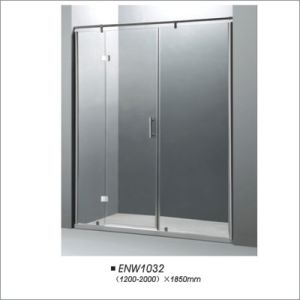 China Tempered Glass Hinge Shower Screen for Russia pictures & photos
