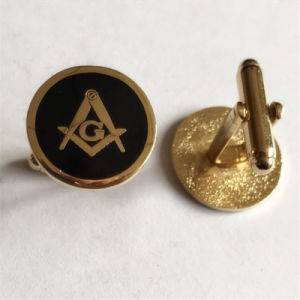 Promotional Gold Metal Enamel Masonic Cufflink