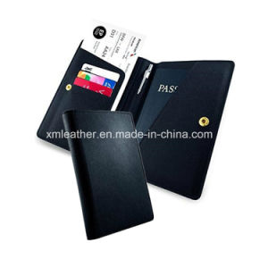 Leather Mens Passport Cover Travel Wallet with Card Holder pictures & photos