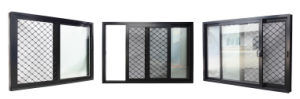 Aluminium Framed Window with Brise Soleil Matched Glazing Frame pictures & photos