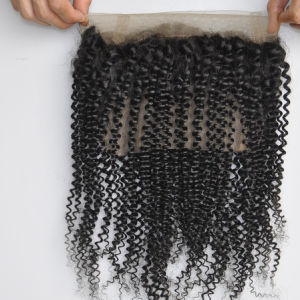 Brazilian Human Virgin Hair 22.5 X 4 X 2 Silk Kinky Curly 360 Lace Frontal with Elastic Band Lbh 188 pictures & photos