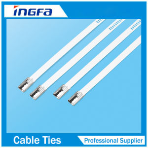 304 316 Grade Coated Stainless Steel Zip Ties with Multi Barb Lock 7X225 pictures & photos
