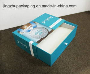 Blue Draw-out Type Cosmetic Packaging Box