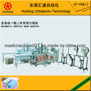 Automatic Ultrasonic Medical Outside Mask Making Machine of 3 Earloop Welding Machines pictures & photos