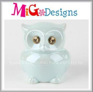 High Quality Gifts Decor Ceramic Owl Money Bank pictures & photos