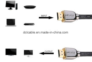 The Newest 4k*2k Resolution HDMI Cable Metal Shell pictures & photos