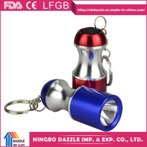 Chinese Mini Power Style L LED Flashlight Keychain pictures & photos