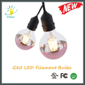 G25/G80 with UL Listed Ce and RoHS 4W 6W LED Light Bulb