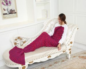 Knitted Mermaid Tail Blanket Adult Knitted Sofa Bed Throw Blankets Mermaid Sleeping Bag pictures & photos