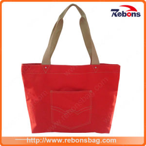 Wholesale Promotional Hand Made Polyester Shopping Bag pictures & photos