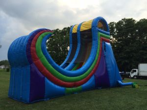 Giant Inflatable Zip Line Slide for Sale pictures & photos