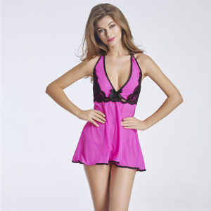 Hot Sale & High Quality Babydoll Sleepwear Nighty for Sale pictures & photos