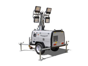 High Quality LED Trailer Light Tower for Sale pictures & photos