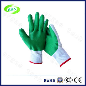 10g Polyester/ Nylon Liner Nitrile Half Coated Gardening Hand Protection Work Glove pictures & photos