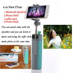 Innovative product bluetooth speaker with selfie stick and power bank