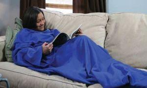 China Factory Wholesales Fleece TV Sleeve Blanket with Custom Logo