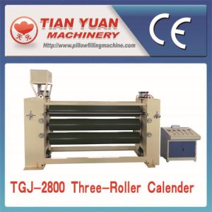 Three-Roller Thermo Bonded Wadding Ironing Machine pictures & photos