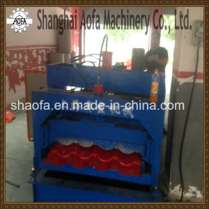 Profile Glazed Tile Roofing Sheet Roll Forming Machine for Metal Corrugated Roof Panel Sheet pictures & photos
