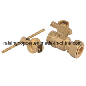 Brass Lockable Ball Valve for Water Meter pictures & photos