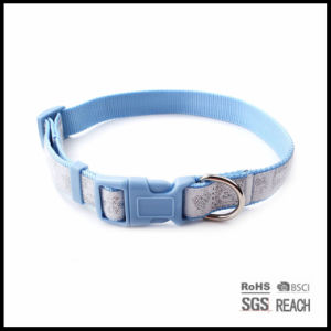 Personalised Reflective Woven Ribbon Nylon Pet Dog Trainig Collar pictures & photos