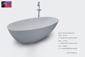 Pg Customized Carve Pattern Black Color Bathtub Freestanding pictures & photos
