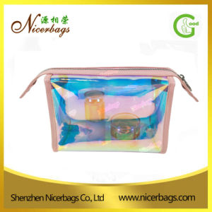 2017 New Arrival Iridescent PVC Cosmetic Bag Clear Vinyl Pouch pictures & photos