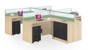 Modular Staff Laptop Computer Table with Partition pictures & photos