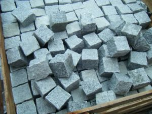 Natural Granite outdoor Paving Cobblestone pictures & photos
